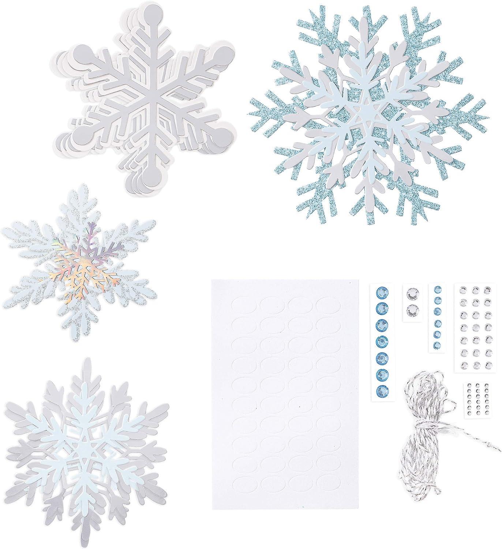 Martha Stewart Die Cut Paper Snowflake Garland, Multicolor