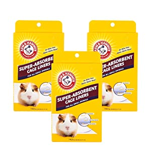 Arm & Hammer Super-Absorbent Pet Cage Liners | Eliminate Odors with The Power of Baking Soda | for Guinea Pigs, Hamsters, Rabbits & All Small Animals