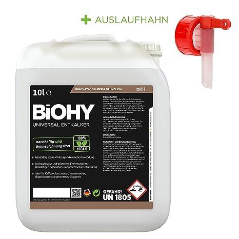 Biohy - Descalcificador universal de 10 litros + grifo concentrado ...