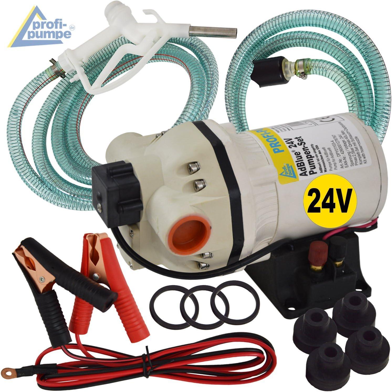 BOMBA Adblue® - BOMBA UREA 24V - BOMBA DE DIAFRAGMA - BOMBA QUIMICA - motor electrico autocebante, manguera de succión/presión, pistola dispensadora y accesorios.