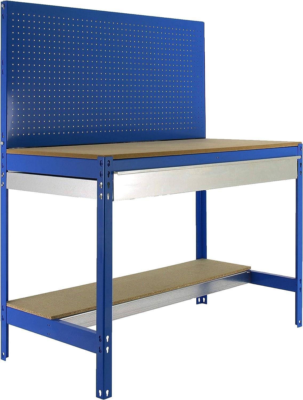 Simonrack BT-2 Box 1200 Werkbank-Set blau aus Holz