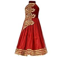 Aarika Girl's Designer Party Wear Gown with Halter Neck