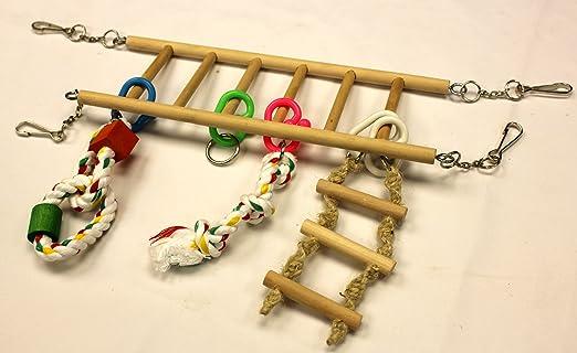 Crazy de acrobacias de escalera de cuerda de alpinista de roedores Hamster Gerbil Pequeño Animal: Amazon.es: Productos para mascotas