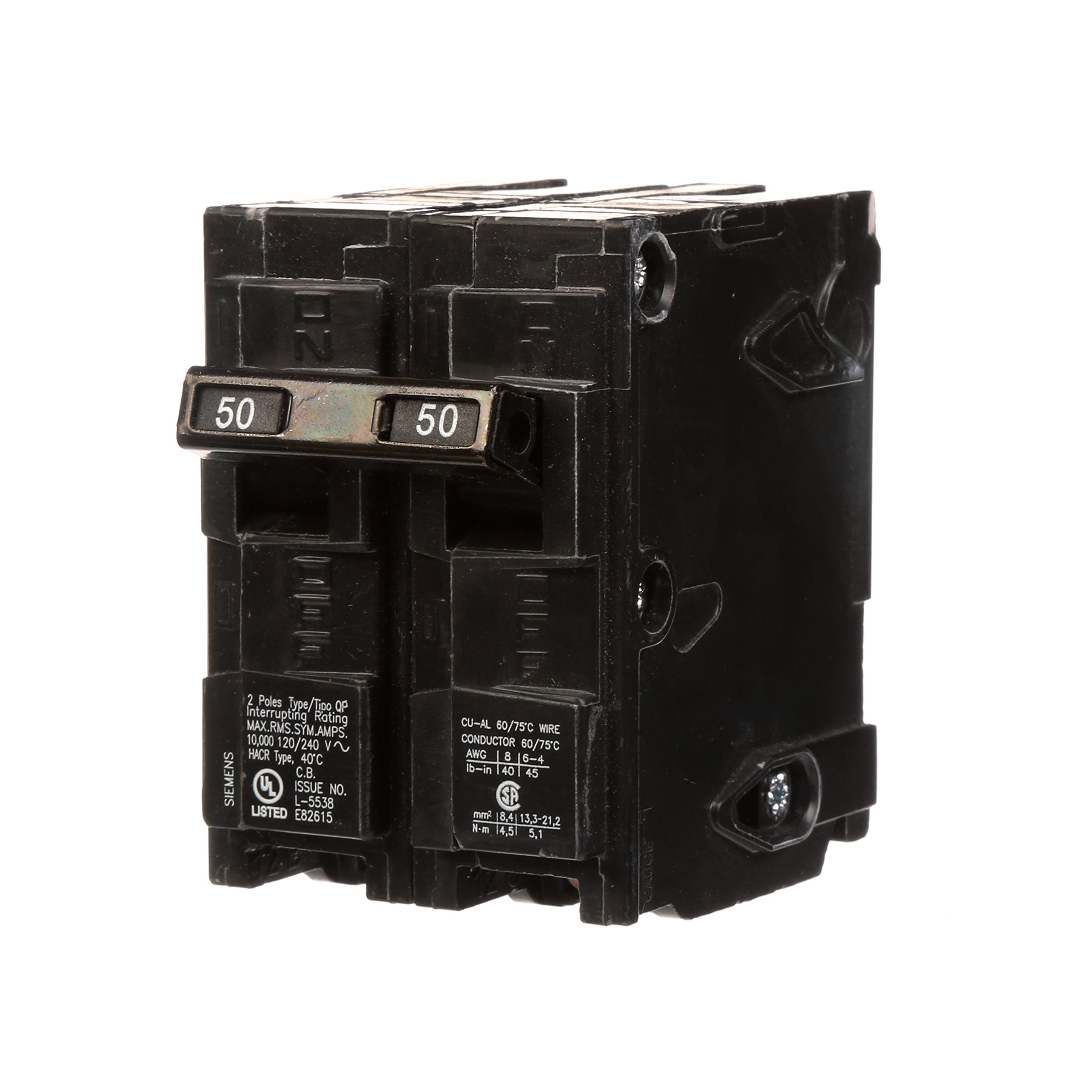 Q250 50-Amp Double Pole Type QP Circuit Breaker by Siemens (Image #1)