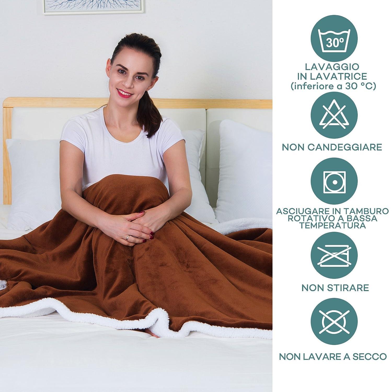 Sable - Manta de franela suave con uno capa de vellón polar cálido de 280 g/m² y un lado de franela suave de 220 g/m², tejido suave de calidad superior con ...