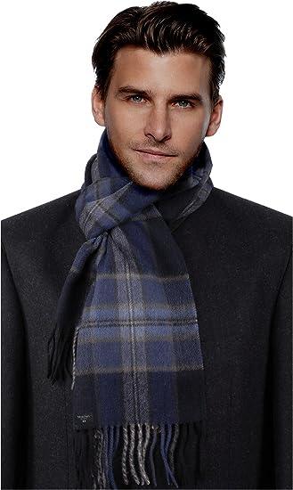 MayTree Kaschmir-Schal in verschiedenen Farben Herren und Damen einfarbig und kariert 180 x 30 cm Unisex Woll-Schal aus 100/% Kaschmir