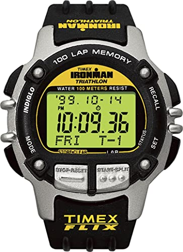 ad7b7fba7bd9 Timex Ironman triatlón de la 66801 Hombres 100 Lap Reloj Deportivo con Flix  Indiglo luz Nocturna  Timex  Amazon.es  Relojes