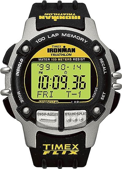 Timex Ironman triatlón de la 66801 Hombres 100 Lap Reloj Deportivo con Flix Indiglo luz Nocturna