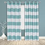 BONZER Stripe Window Curtains for Bedroom - Grommet Room Darkening Curtain, Thermal Insulated, Noise Reducing and Light…