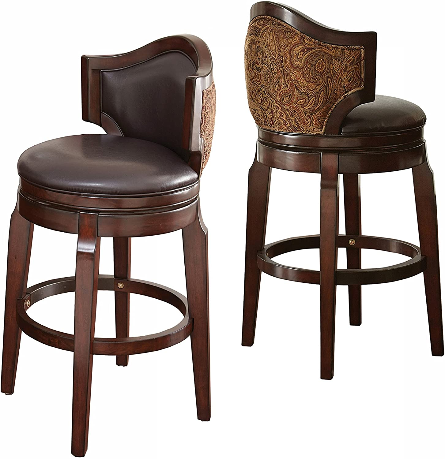 Steve Silver Company Jasper Bar Chairs, Set of 2, Brown