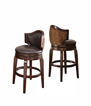 Pleasant Steve Silver Company Jr300Bcc Jasper Bar Chairs Set Of 2 Brown Ibusinesslaw Wood Chair Design Ideas Ibusinesslaworg