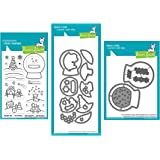 Lawn Fawn Snow Globe Scenes 4x6 Clear Stamps, Coordinating Dies and Coordinating Shaker Add-on Die, Bundle of 3 Items…