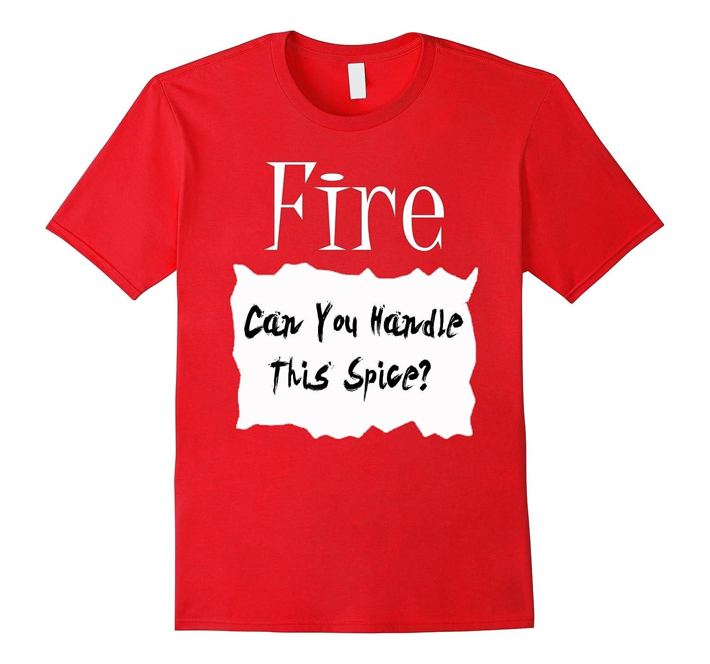 Fire Hot Sauce Packet Halloween Costume Taco T-shirt-FL