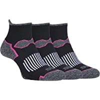 Storm Bloc - 3 Pack Ladies Padded Quarter Ankle Running Socks with Arch Support