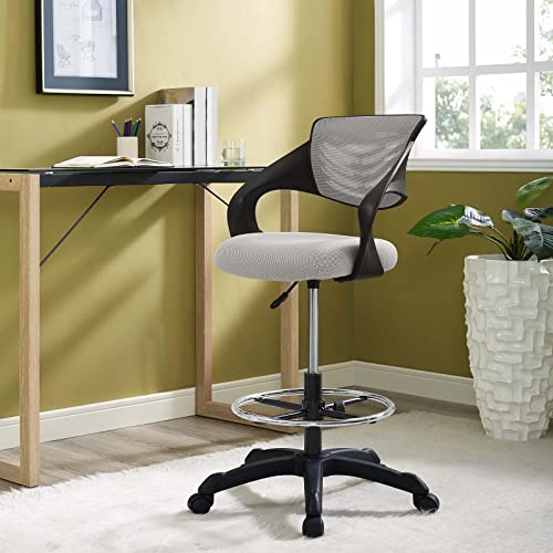 Modway Thrive Mesh Drafting Chair, Gray