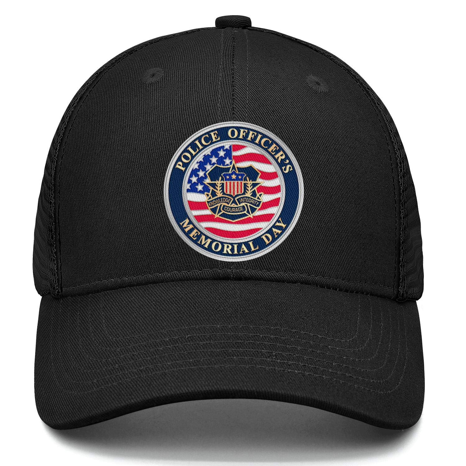 Peace Officers Memorial Day May 15 Basketball Cap Adjustable Unisex Mesh Cap Duck Tongue Caps Stylish Hats