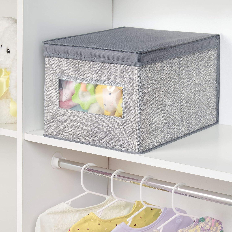Amazon.com: mDesign - Caja organizadora de tela suave y ...