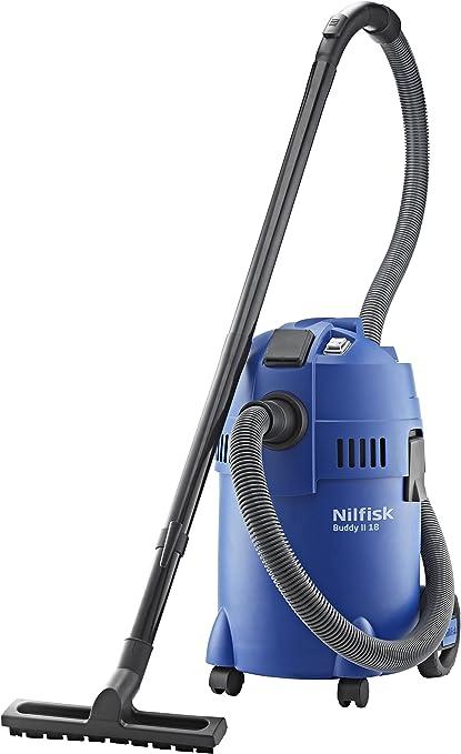 Nilfisk Buddy II 18 T- Aspiradora de trineo, 1200 W, bolsa para el polvo, color negro y azul: Amazon.es: Hogar