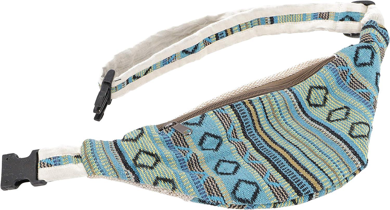Adultos Bolsas Laterales Para Cintur/ón GURU-SHOP Pr/áctica Bolsa de Cintur/ón de C/á/ñamo Unisex 30x20 cm Ri/ñonera /étnica Bolsa Lateral Natural