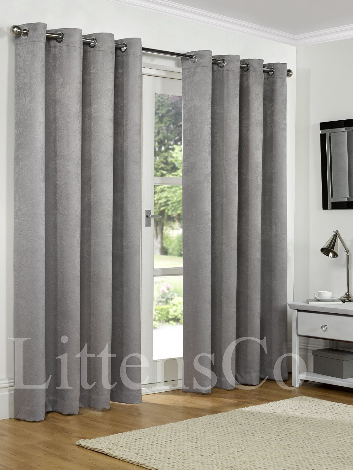 grey patterned pair x at curtains boxes lined buy habitat of uk now