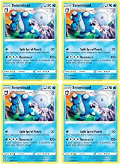 product image for Pokemon - Seismitoad - Rebel Clash x4 Card Playset - 46/192 Rare