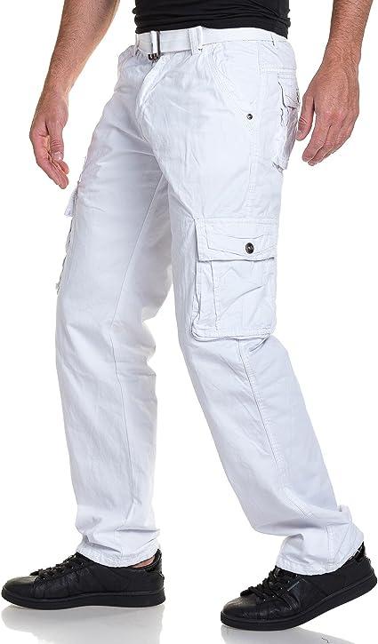 pantalon homme cargo blanc