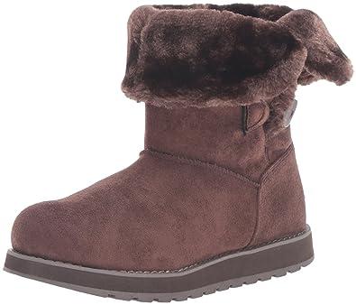 Skechers Women's Keepsakes-Short 2 Button Winter Boot,Chocolate,5 ...