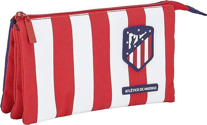 Atletico de Madrid Estuche, Niños Unisex, Rojo, Blanco Y Azul, Talla Única: Amazon.es: Ropa y accesorios