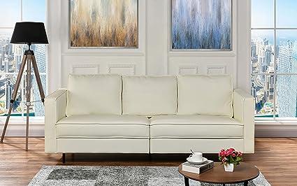 Amazon.com: Casa Andrea Milano Mid-Century Modern Leather Living ...