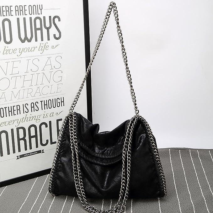 Amazon.com: Cherryi Women Bag PU Leather Fashion Chain Womens Messenger Shoulder Bags Bolsa Feminina Carteras,black gold: Clothing