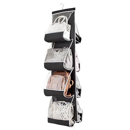 ZOBER Hanging Purse Organizer for Closet Clear Handbag Organizer for Purses e354db768e699