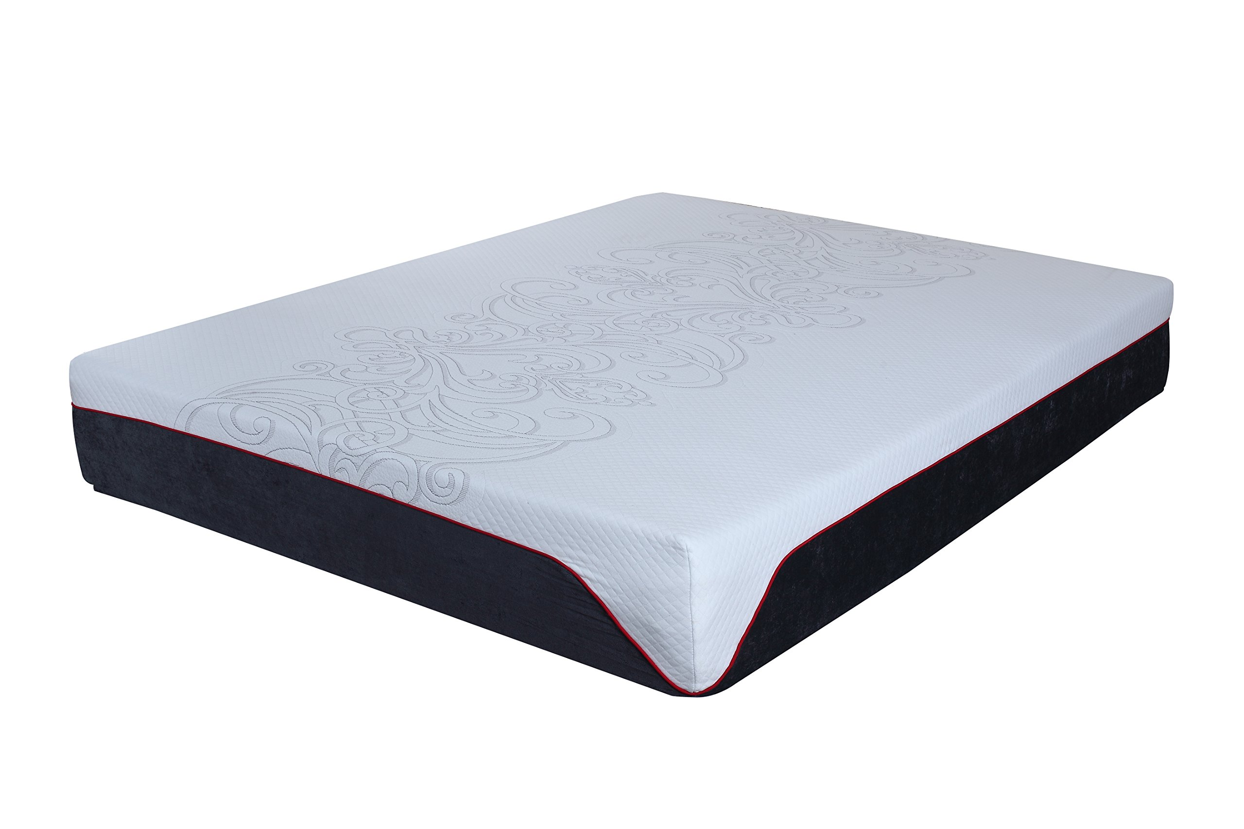 Swiss Ortho Sleep, 12'' High-Density, 3 x Layered reversible LATEX & MEMORY FOAM MATTRESS, w/ Bamboo Cover, All Sizes (Queen)
