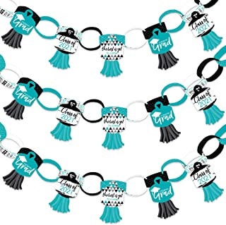 product image for Big Dot of Happiness Teal Grad - Best is Yet to Come - 90 Chain Links and 30 Paper Tassels Decoration Kit - 2021 Turquoise Graduation Party Paper Chains Garland - 21 feet