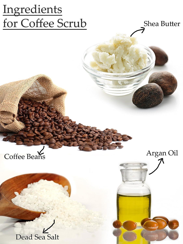 Bff Face Scrub con granos de café y sal de mar muerto: Amazon.es: Belleza