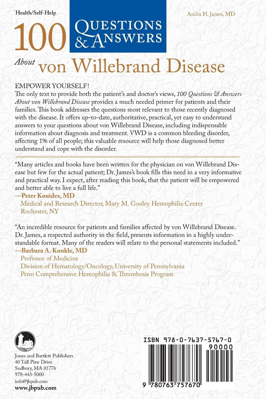 Book Online at Low Prices in India | 100 Questions & Answers About Von  Willebrand Disease (100 Questions ...