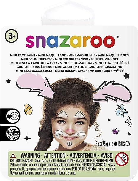Snazaroo Conejo pintura facial, color negro, blanco, rosa: Amazon.es: Juguetes y juegos