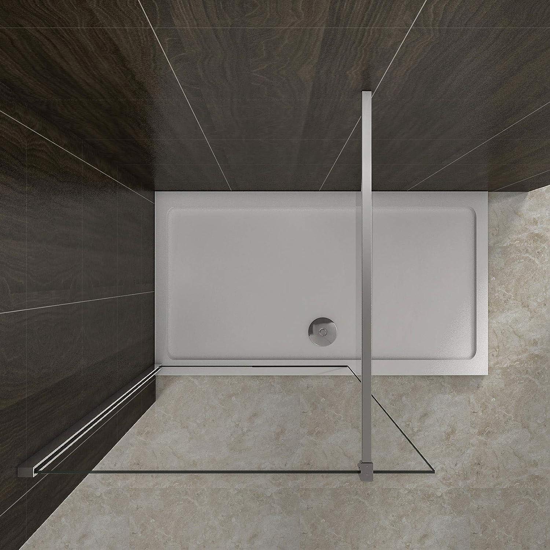 AICA paroi de douche 60cm paroi de douche /à litalienne en 8mm verre anticalcaire hauteur:200cm