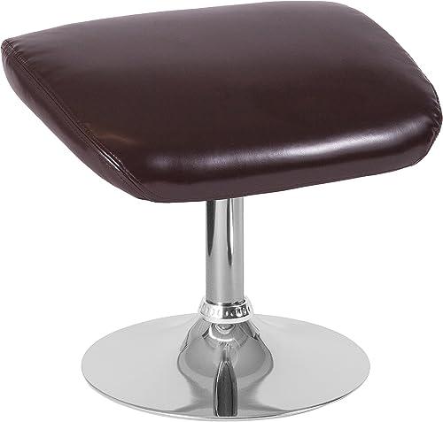 EMMA OLIVER Brown LeatherSoft Ottoman Footrest
