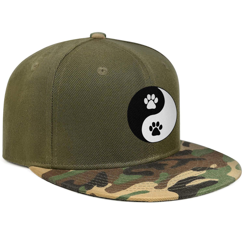 Doggy Paws Yin Yang Symbol Classic Round Unisex Baseball Cap Breathable Sun Caps Adjustable Trucker Caps Dad-Hat