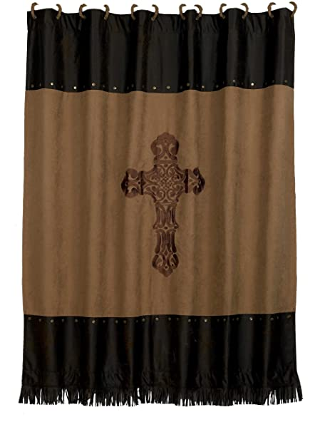 Amazon HiEnd Accents Western Crosses Shower Curtain Home Kitchen