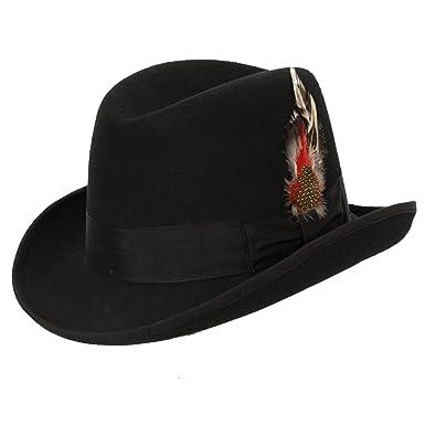 071763df351 Levine Hat 9th Street Hats  Charles  Firm Felt Homburg Godfather Hat 100%  Wool