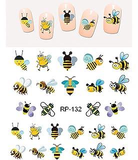 Amazon Honeybee Honey Bee Nail Art Decals Beauty