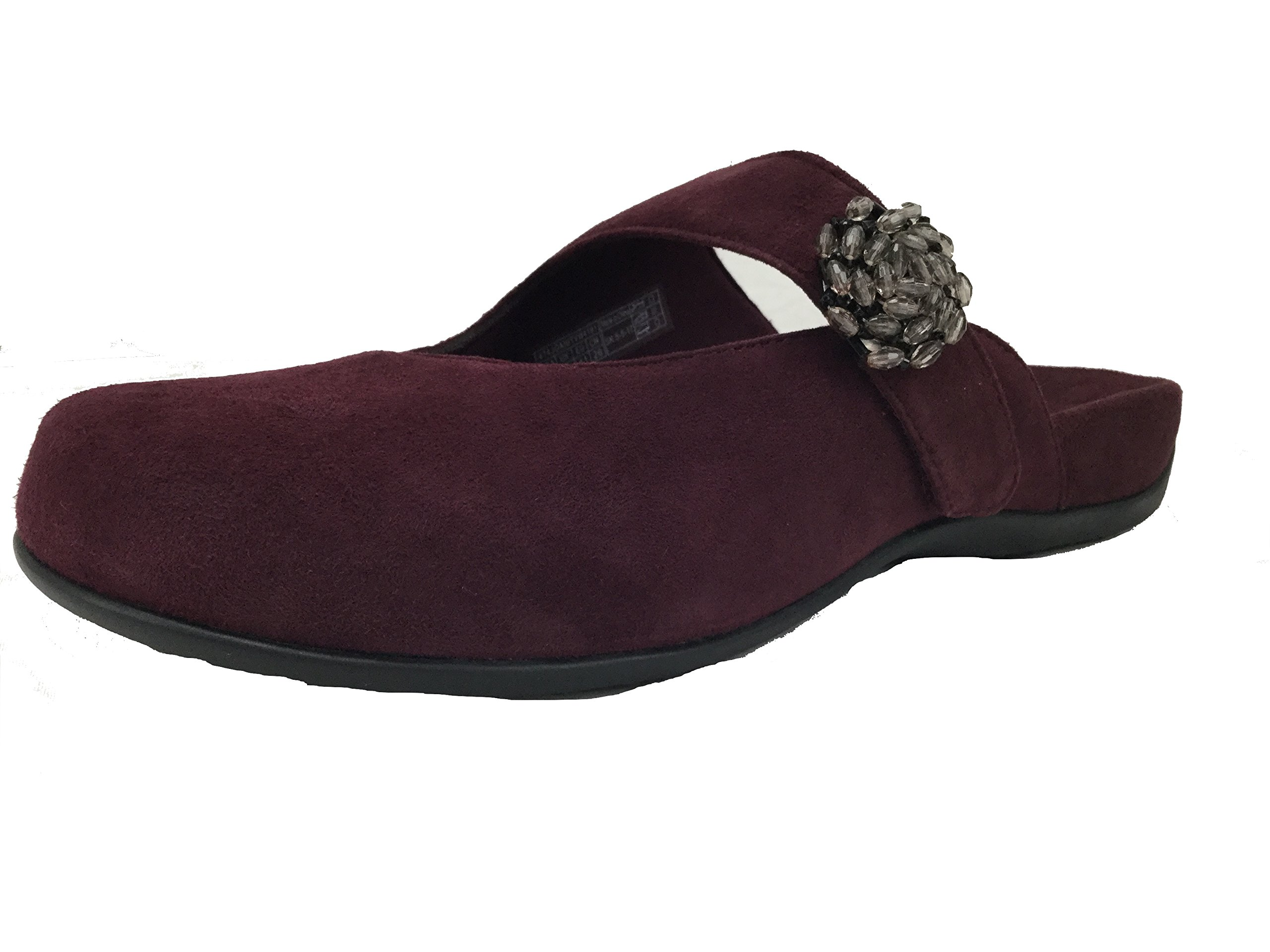 Vionic with Orthaheel Technology Womens Joan Mary Jane Mule Merlot Size 8