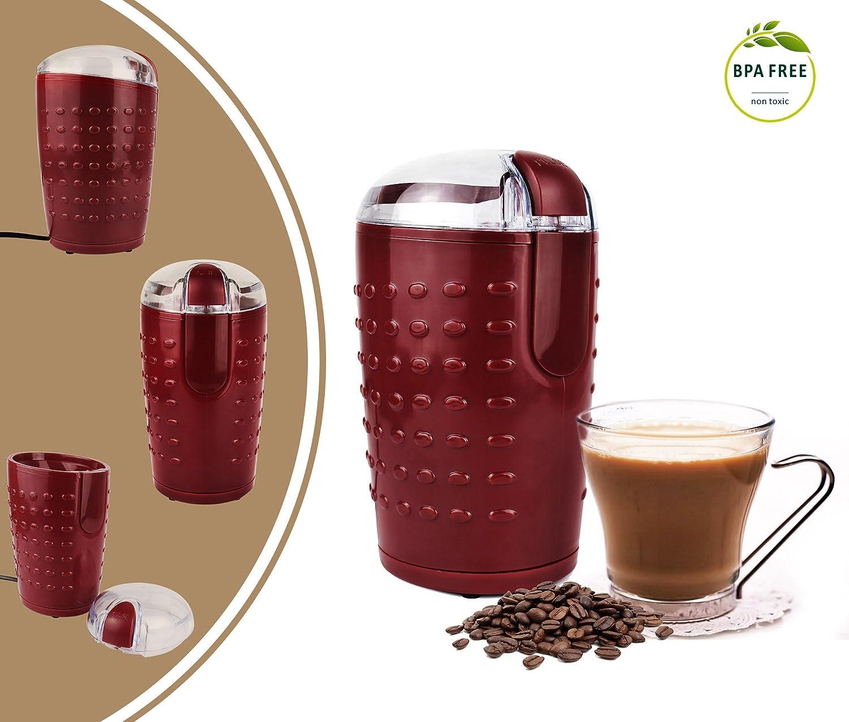 Leogreen - Elektrische Kaffeemühle, Getreide Mühle, Kastanienbraun, Watt: 150 W, Standard/Zertifizierung: UL Getreide Mühle