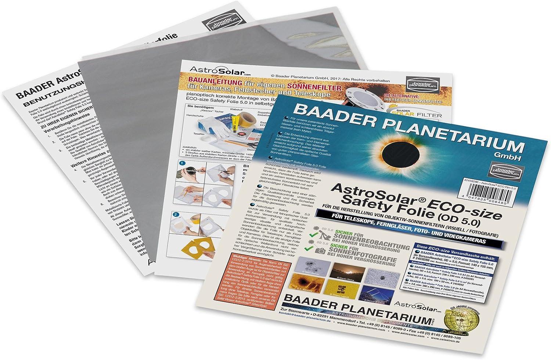 "Baader AstroSolar Visual Solar Filter Film (ND 5) - Eco Size Piece 140x155mm (5.5x6.1"") # 2459286"