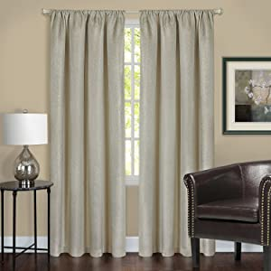 Achim Home Furnishings Ombre Tie Up Curtains, 50 by 63-Inch, Earth, Tan