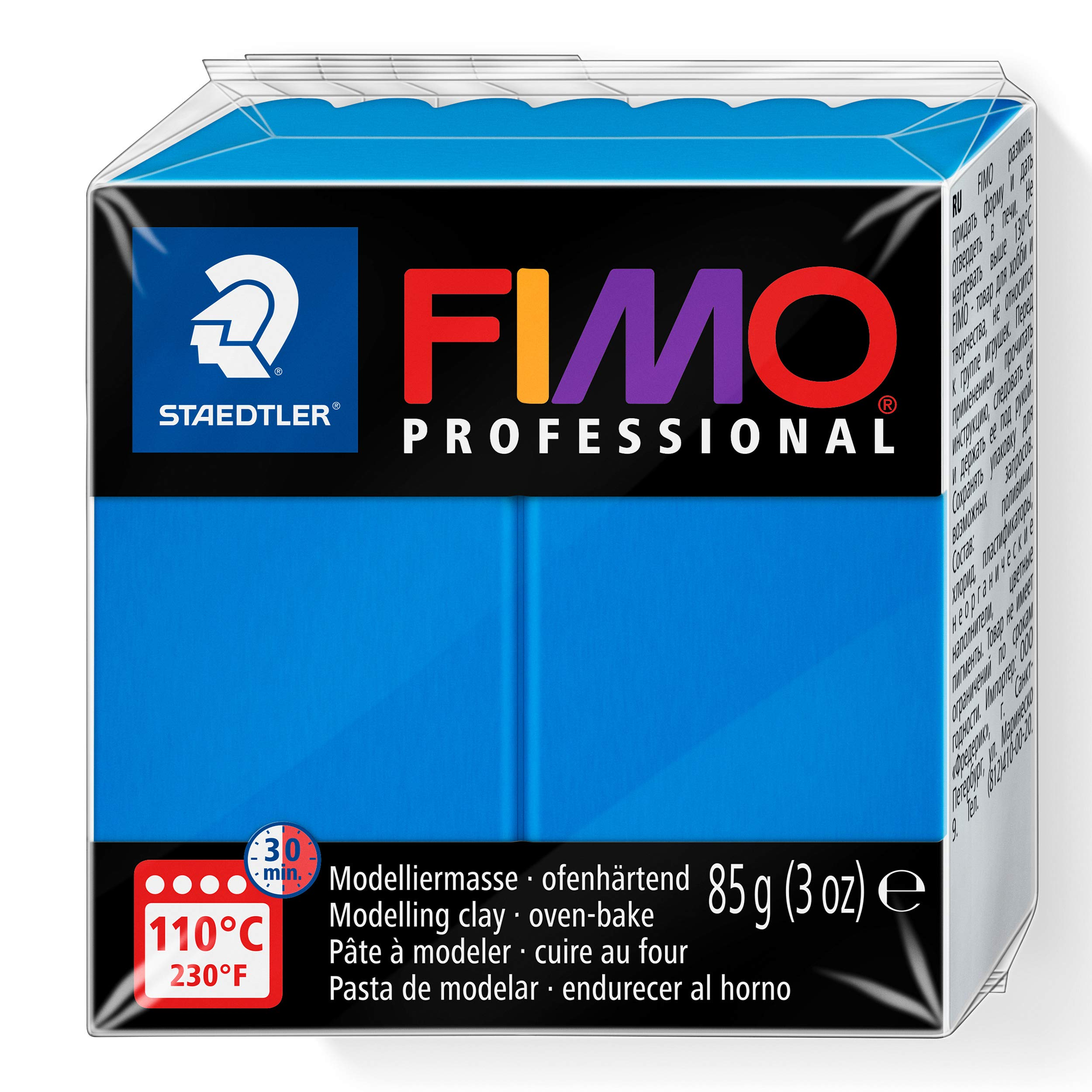 Staedtler Fimo professional Individual Standard Blocks 85g, True Blue, 85 g