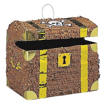 Del Unique Party Cofre Tesoro Pirata6763 Piñata CxordeWQB