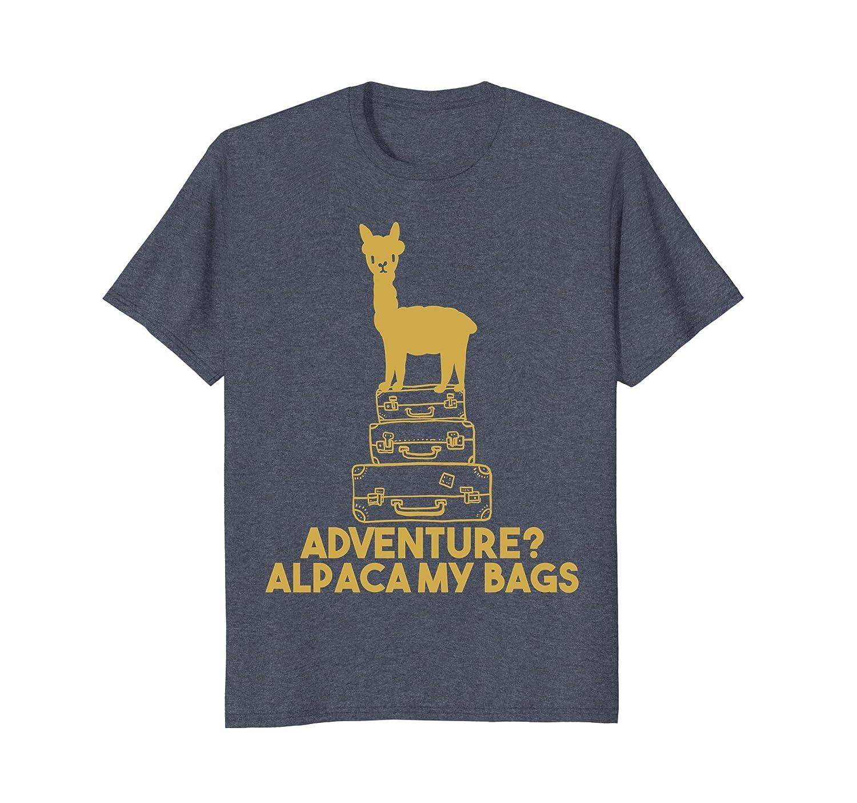 Funny Alpaca Lover T-shirt Fun Travelling Tee-alottee gift
