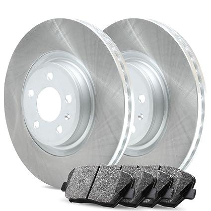 Ceramic Brake Pads For 2009 Ford F-150 Front Rear eLine Plain Brake Rotors